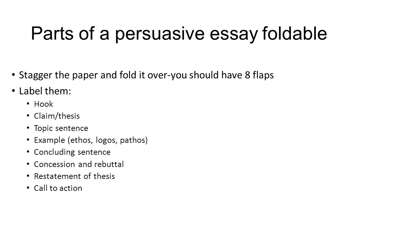Call to action in an persuasive essay example